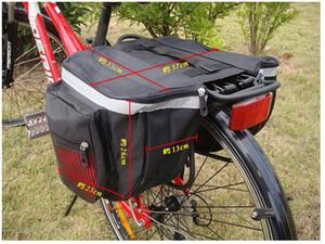 25L Étanche Montagne Route Vélo Vélo Rack Arrière Siège Arrière Porte-Coffre Coffre Double Sacoche Sac Dorsal et Rouge