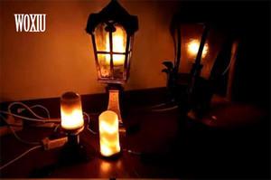 WOXIU día de navidad bombilla led E27 Efecto bombillas de fuego para decoración iluminación en fiesta de bodas