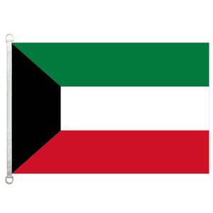 Bandiera del Kuwait Banner 3X5FT-90x150cm 100% poliestere, 110 gsm ordito tessuto a maglia bandiera esterna