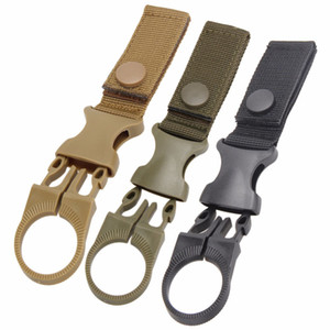 Multifunction Outdoor military Nylon Webbing Buckle Hook Water Bottle Holder Clip EDC Climb Carabiner Belt Backpack Hanger