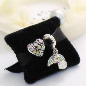 2018 S925 Sterling Silver LOVE Charm Beads Sets Fit European Pandora Style Jewelry Bracelets Necklaces & Pendan