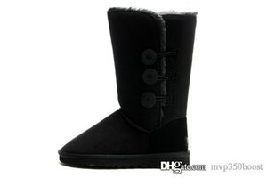 2018 حار بيع النساء الثلوج الاسترالية النساء أحذية الثلوج 100٪ جلد البقر الحقيقي الكاحل أحذية شتاء دافئ امرأة الأحذية