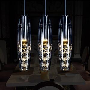Creativo restaurante personalidad cristal de la lámpara LED lámpara moderna lámpara colgante minimalista comida lámpara de escritorio barra del envío libre