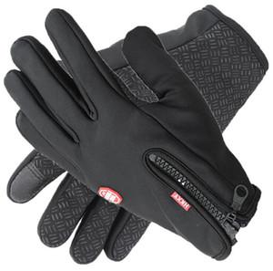 Windstopers Gants Anti Slip Windproof Thermique Tactile Gant Gant Respirant Tacticos Hiver Hommes Femmes Noir Zipper Gants