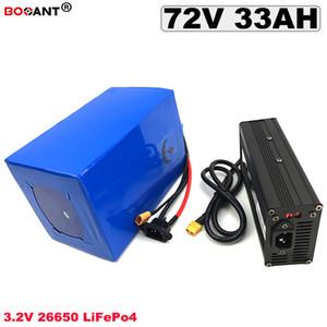 Batería de litio de 3.2V LiFePo4 Batería de bicicleta eléctrica de 72V 33AH Batería de 23S 10P LiFePo4 1500W 2000W 3000W Motor de 4000W Envío gratuito