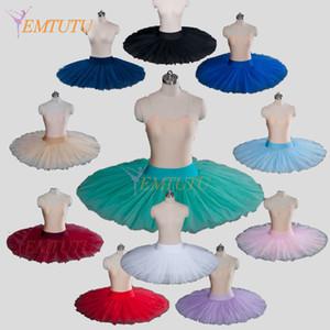 Firma Tüll professionelle Hälfte Ballett-Tutu professionelle Ballett-Tutus Pfannkuchen Praxis Probe platte Hälfte Tutu