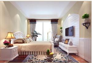 5.3sqm Klassische Tapete für Möbel Einfache dünne Streifen Tapete Wohnzimmer Hintergrund Wanddekor Vliestapete