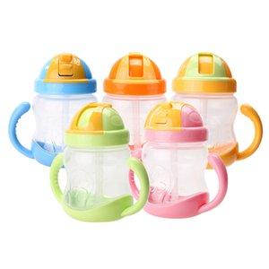 280 ملليلتر لطيف الطفل كوب أطفال الأطفال تعلم التغذية مياه الشرب سترو مقبض زجاجة mamadeira سيبي التدريب كوب الطفل تغذية كوب