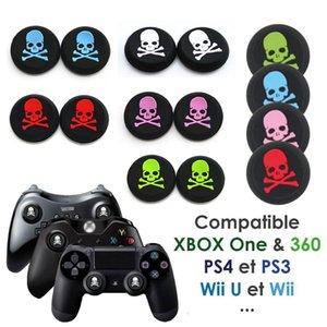 5 Renkler İskelet kafatası kafa Silikon Analog Kontrol Thumbstick Thumb Kavrama Joystick Cap Kapak PS4 PS3 Xbox one 360 HıZLı GEMI için Sapları