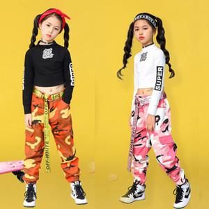 Kid Hip Hop Kleidung Mantel Camouflage Jogger Hosen für Mädchen Jazz Dance wear Kostüm Gesellschaftstanz Kleidung Bühne Outfits Anzug