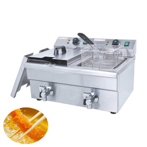 Qihang_top 6L-2 Freidora eléctrica comercial para pollos / Máquina freidora eléctrica / Patatas fritas comerciales