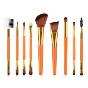 9PCS Makeup Brushes Best Eyelash Eyeshadow Eyebrow Blending Eyeliner Lip Brushes Cosmetic Tools Set Pinceis Maquiagem DHL TM042