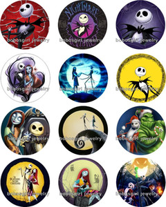 Nouveau The Nightmare Before Christmas snap bouton en verre boutonphoto Round Gl292 fabrication de bijoux Résultats de bricolage Fit for bracelet necklace boucles d'oreilles