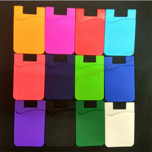 Ultra-slim Self Adhesive Credit Card Wallet Card Set Card Holder for SmartphonesColorful Silicon