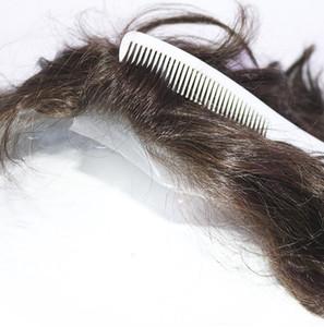Mens Posticci Toupee Super invisibile pelle sottile di ricambio naturale Nero Mens parrucchino capelli Systems Per capelli perduti e spedizione veloce calva