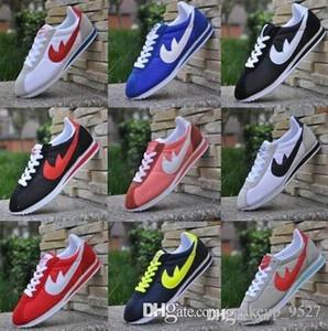 newBig tamaño EUR36-48 DORP ENVÍO marcas de zapatos casuales los hombres zapatos de las mujeres Cortez ocio Conchas zapatos de moda de cuero de las zapatillas de deporte al aire libre 12colors