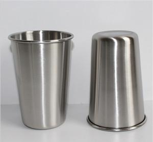 كؤوس الشرب النظيفة 16OZ الفولاذ المقاوم للصدأ للأطفال الصف الغذاء BPA الحرة شرب 16 أوقية نظارات نصف لتر متعددة الأغراض بهلوان 500ML الحليب البيرة الكأس
