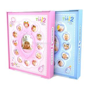 Álbum de fotos de crianças com bebê 12 meses de crescimento tampa decoração quadro crianças aniversário Memorial presentes 6/8 polegadas fotos para 220 folhas de armazenamento