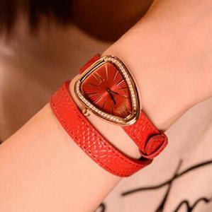 Heiße Serpenti Frauen Uhr berühmte Lederband Armband Schlange Diamant Lünette Kleid Quarzuhren für Damen Armbanduhren