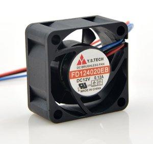 yeni orijinal Y.S.TECH FD124020EB 12V 0.12a FD124020HB-H 4020 4CM rulman soğutma fanı
