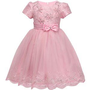 Vestido de niña de bebé del cordón años Cumpleaños de los bebés Vestidos Ropa Infantil Menina partido 0-3 Vestidos bebé vestido de los vestidos de bautizo