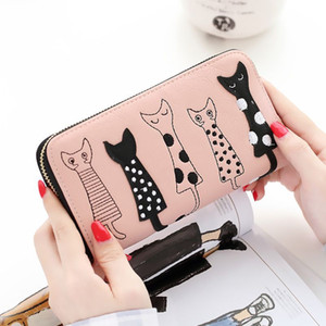 Frauen Geldbörsen Cute Cat Wallet Geldbörse Bifold Long Womens Geldbörsen Boku No Hero Academia