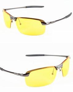 Les conducteurs de voiture en aluminium-magnésium des hommes chauds de vente des lunettes de vision nocturne des lunettes de soleil polarisantes anti-éblouissement Polarized Driving Glasses