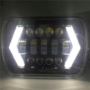 7x6 '' 5D LED Far Halo DRL 86-95 Için Jeep Wrangler için YJ 84-01 Cherokee XJ Melek Gözler DRL H4 LED Kare Farlar