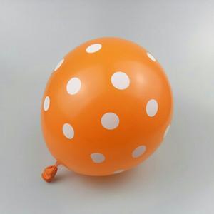 할로윈 풍선 50pcs / lot12 인치 라텍스 라운드 오렌지 웨이브 포인트 ballon 행복한 생일 파티 풍선 장식 결혼식 뜨거운 공급
