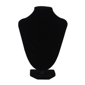 GENBOLI Kolye Bilezik Kolye Ekran Standı Raf Siyah Kadife Takı Gösteren Tutucu Manken Gerdanlık Organizatör Vitrin