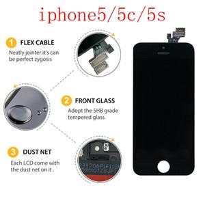 ل iphone5 سلسلة الأصلي شاشة LCD تعمل باللمس ipone5 5C 5S عرض الهاتف المحمول الأصلي + الشحن DHL مجانا