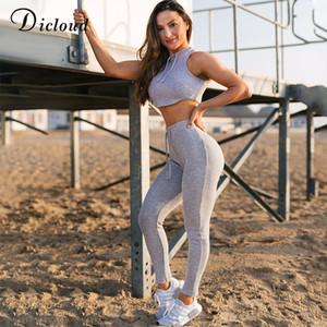 uydurma takım nervürlü mahsul üst kazak örme Dicloud eşofman kadın pantolon eğitim streetwear kadın 2018 kadar pulloverlace
