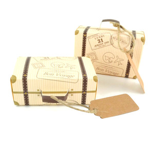 Creative Wedding Favor Box Mini Suitcase Candy Box kraft Candy Packaging Carton Wedding Gift Box Event & Party Supplies Wedding favors with