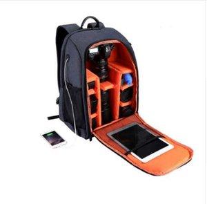 Livraison Gratuite PULUZ Multifonctionnel Étanche Scratchproof Numérique DSLR Caméra Photo Vidéo Épaule SLR Camera Bag w / Rain Cover
