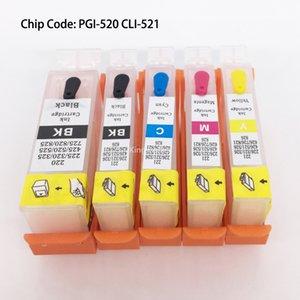 PGI-520 CLI-521 / PGI520 CLI521 Çip Ile Canon Için Doldurulabilir Kartuş IP3600 IP4600 MP540 MP620 MP630 MP980 MX860 MX870 5 Renk