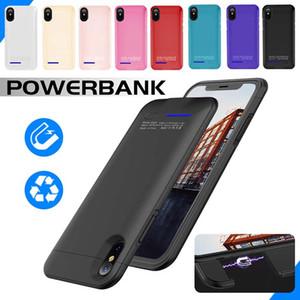 Custodia per batteria per iPhone X 8 7 Custodia per batteria ricaricabile ultra sottile Custodia per batteria ricaricabile esterna Powerbank con supporto
