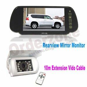 """18 LED IR Visão Noturna À Prova D 'Água Câmera de Inversão branca + 7 """"TFT Car LCD Monitor Espelho com Cabo de Vídeo de 10 m"""