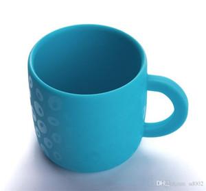 Kinder Tasse Mit Griff Essbaren Grade Anti Herbst Verbrühen Baby Safe ungiftig Silikon Becher Bunte Umweltschutz 10ty