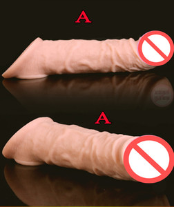 Super Soft Realistic Silicone Penis Extender Sleeve Cock Enlargement Enhancer Reusable Delay Gonobolia Dick Ring Adult Sex Toy For Men 329