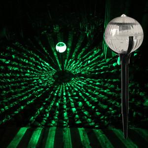 Solar-Landschaft führte Rasen-Lampen Ball förmige LED-Außenbeleuchtung Solargartenlicht bunte Dekor Licht Kunststoff und Edelstahl