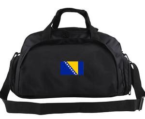 Bolso de lona de Bosnia Bolso de bandera del estado de Herzegovina Mochila de bandera del país Uso de equipaje de forma doble Bolsa de lona deportiva Bolso de emblema de emblema