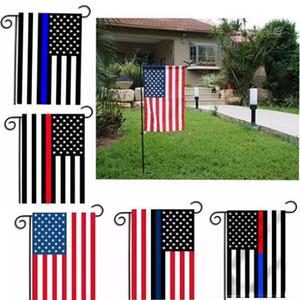 30 * 45cm Banderas BlueLine EE.UU. Policía decoración del partido Thin Blue Line EE.UU. Bandera Negro, blanco y azul de la bandera de la bandera americana Jardín 572