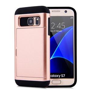 Slider Slot per scheda di caso per Samsung Galaxy Note bordo 9 S9 Inoltre S8 S7 S6 S5 robusta ibrida Armatura copertina Heavy Duty posteriore del telefono mobile Shell