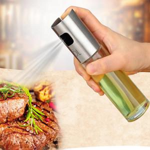 Pulvérisateur à huile pour la cuisson en acier inoxydable et bouteille en verre