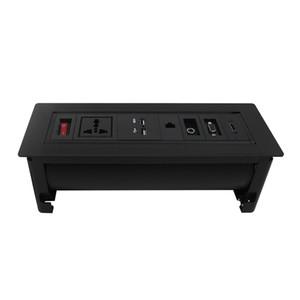 Горячая распродажа многофункциональный откидной настольный разъем для конференц-зала / офиса / другой с зарядным устройством USB, VGA