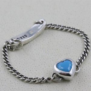 2018 Nuevo 100% de plata esterlina 925 European Pandora Jewelry Spirited Heart Ring Fashion Charm Ring para mujeres