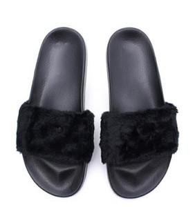 Rihanna Ayakkabı Fenty terlik Mix renkler Kutu ile 36 cm Kurşun Fenty Boyutu 36-40 Moda bayanlar yaz papyon Slayt Sandalet flip flop.