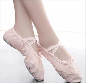 Toile Pantoufles Plat Rose Rouge Noir Salsa Ballet Chaussures Pour Filles Yoga Gym Pantoufles Plat Ballerine Danse Chaussure pour bébé enfants
