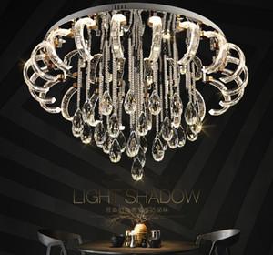 Moderno salotto conciso lampada da soffitto in cristallo lampada LED rotondo creativo casa camera da letto camera da letto matrimoniale luce LLFA