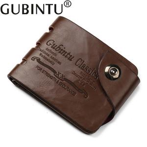 Garantia de Qualidade GUBINTU homens carteira de couro Homens Carteiras Purse Curto Masculino Clutch PU carteira de couro dos homens Bolsa de Dinheiro